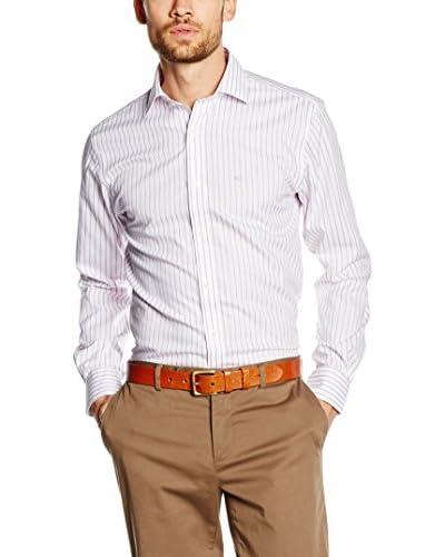 Pedro del Hierro Camisa Hombre T-Spread Blanco / Violeta