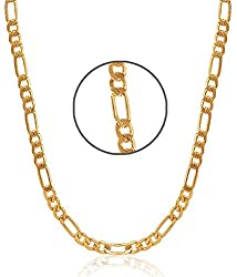 Gold Plated 24 Inches Long THE SACHIN Chain for Boy's & Men's by Charms