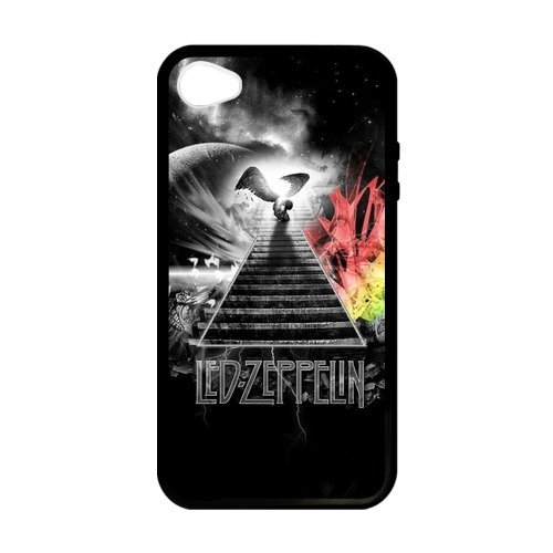 New Personalized Led Zeppelin Custom Laser Rubber Case For Iphone 4 Iphone 4S