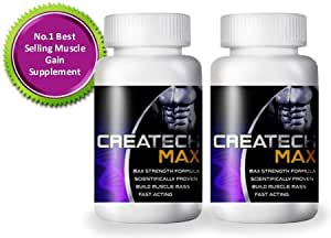 Creatine Createch Max Protein Supplement GET RIPPED Muscle Growth Body Building , (2 month supply) , how can i get 6 packs