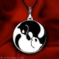 Yin Yang Twin Cats Charm Pendant Necklace