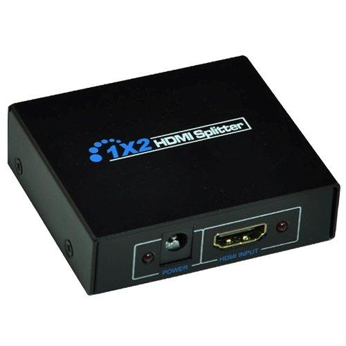 【ノーブランド品】1入力2出力 HDMI分配器 1×2 HDMIスプリッター 2台のHDMI搭載機器に出力可能 フルハイビジョン 3D 対応 1.4ver