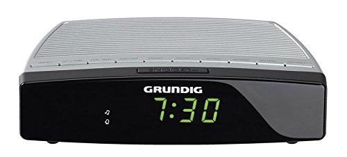 Grundig GKR2310 Sonoclock600 Radiosveglia, Argento/Nero
