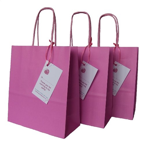 3-x-luxury-pink-paper-goody-loot-party-bags-with-thank-you-gift-tag-less-than-64p-each