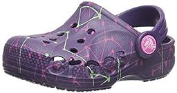 crocs Baya Galactic Clog (Toddler/Little Kid), Royal Purple, 4/5 M US Toddler