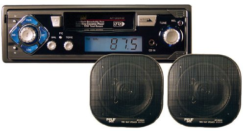 AM/FM-MPX Cassette Player w/Pair of 5'' Speakers