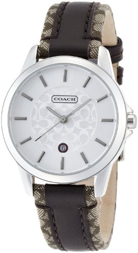 Coach 'Classic Signature' Leather Strap Watch 14501396