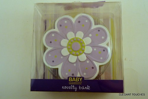 BABY ESSENTIALS PURPLE FLOWER BABY BANK - 1