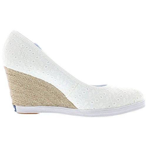 Keds Women's Damsel Eyelet Wedge White 8 M US