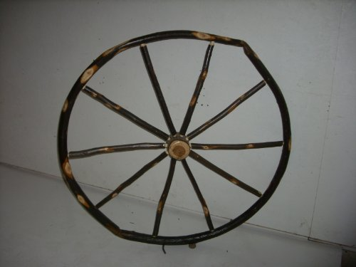 Rustic Hickory Decorative Wagon Wheel