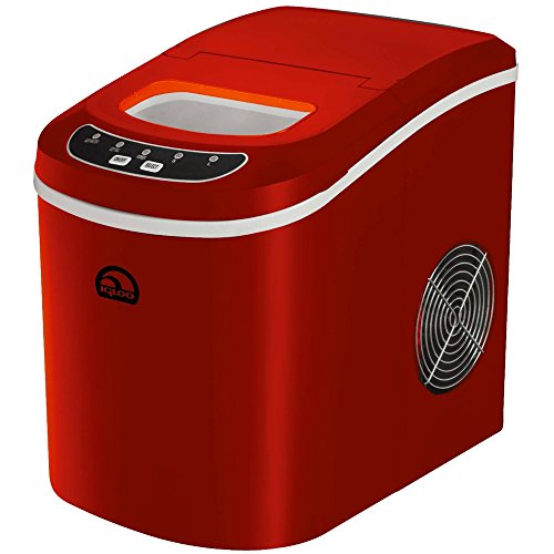 iGloo ICE102-Red Compact Ice Maker, Red