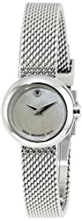 Movado Women's 0606705 Dot Stainless Steel Case and Bracelet White Mother-Of-Pearl Dial Watch