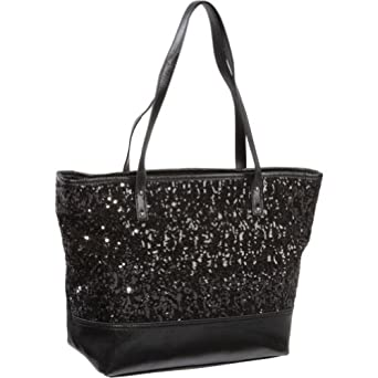 Nine West Handbags Flashlite Medium Shopper (Black)