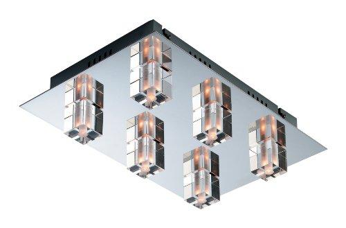 first-light-products-lampada-a-soffitto-starburst-6-x-12-v-20-watt-cromata-con-elementi-in-vetro-tra