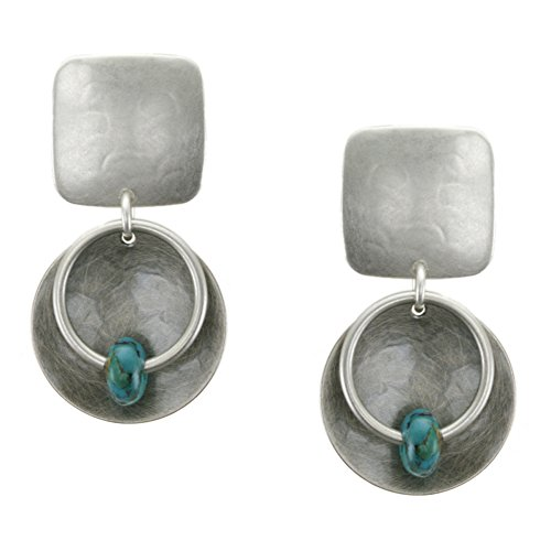 Marjorie Baer Square with Turquoise Bead with Laye…
