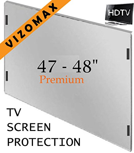 47 - 48 inch Vizomax TV Screen Protector for LCD, LED & Plasma HDTV neewer® white pink lace protector tv cover for 37 inch led lcd plasma tv unfolded 95x12x70cm