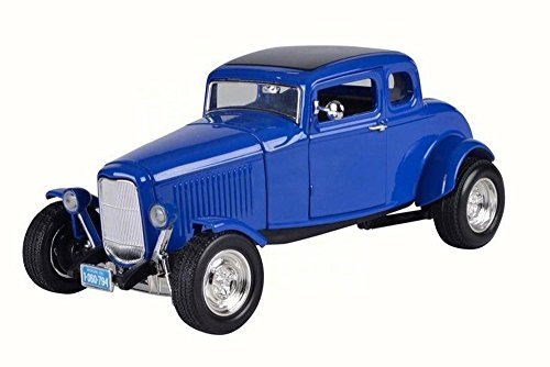 1932 Ford Coupe Five-Window Coupe, Blue - Motor Max 73171 - 1/18 Scale Diecast Model Toy Car (1932 Ford 5 Window Coupe compare prices)