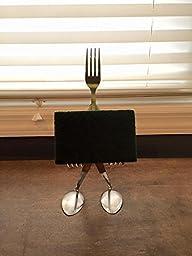 sponge holder spoon and fork sculpture