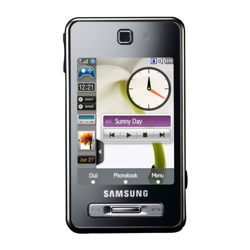 Samsung F480 Tocco Orange Pay As You Go Including £10 Airtime - Black