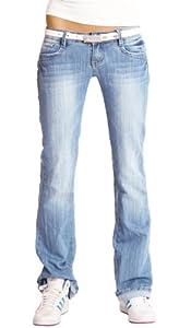bestyledberlin Damen Jeanshosen, Hüftjeans, loose-fit Jeans im Boyfriend-look j85d
