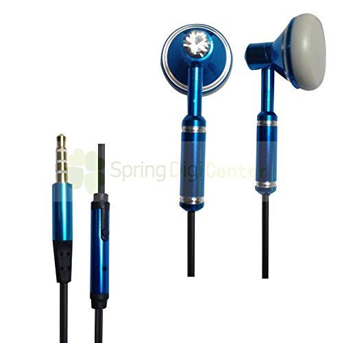Spring Digi Center The Latest Oem Headphone With Mic For Iphone,Ipad,Samsung Smartphones And Tabs And Other Devices With 3.5 Mm Jack(Blue)