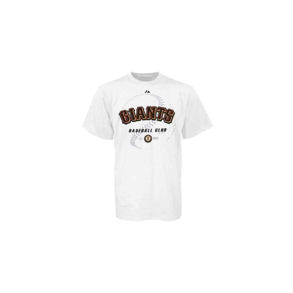 Majestic San Francisco Giants Baseball Club White T shirt