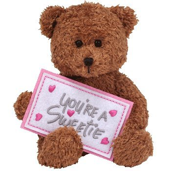 TY Beanie Greetings You're a sweetie Sweetest day bear