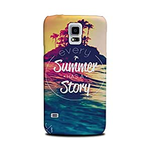 Samsung Galaxy S5 Designer Printed Case & Covers (Samsung Galaxy S5 Back Cover) - Summer has a Story Quote