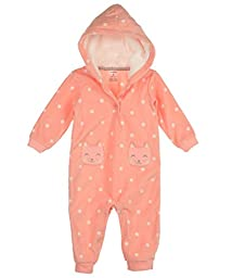 F14 1pc Girl MF Pink Dot Kitty Pockets 12 Months