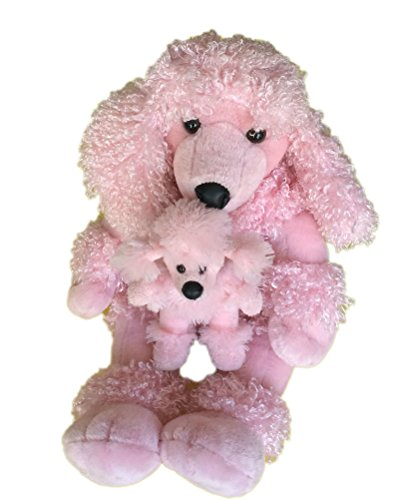 Build a Bear Pink Poodle and Puppy - 1