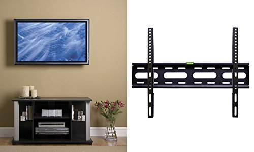 YBG Imports - Low Profile Super Slim Universal Flat Fixed TV Wall Mount - Supports 165 lbs and Screens Sizes 32