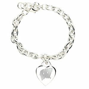 NCAA Wisconsin Badgers Heart-Charm Bracelet
