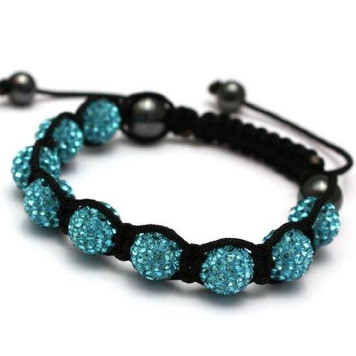 Eeazy-Gizmo® Turqoise Shamballa Bracelet Unisex Crystal Swarovski Beads