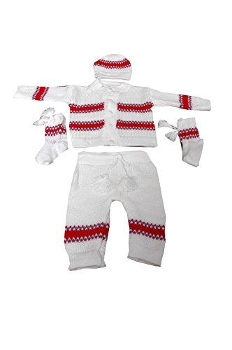 AKHIL & AARNA Baby Sweater (White)