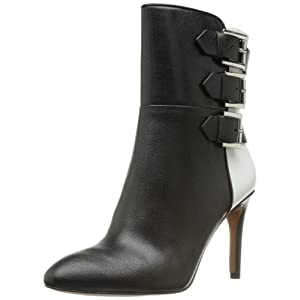 Nine West Women's Petti Boot,Black/White Leather,9 M US