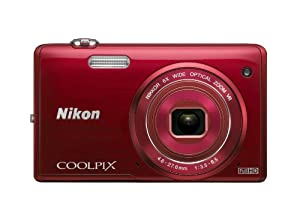 Nikon COOLPIX S5200 16 MP Digital Camera with Built-In Wi-Fi (Red)