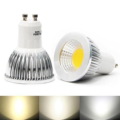 Eyourlife Gu10 6W Dimmable Led Cob Spot Down Light Ceiling Lamp Bulb Color Cool White 10Pcs