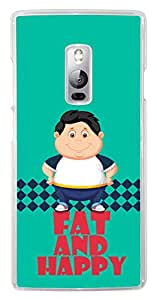 Kanvas Cases Printed 2D Transparent Lightweight Slim Matte Finish Hard Case Back Cover For Oneplus Two (Multi-Coloured)