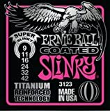 Ernie Ball EB-3123 Super Coated Slinky 009-042 Coated Titanium Electric Guitar Strings