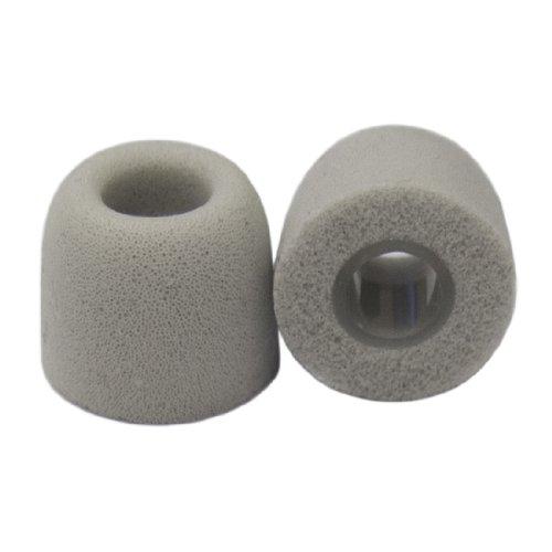 Veritas Memory Foam Earphone Tips Foam Tips (Fits 4Mm-5.5Mm Diameter Nozzle, Light Grey, 4 Pairs, Small)
