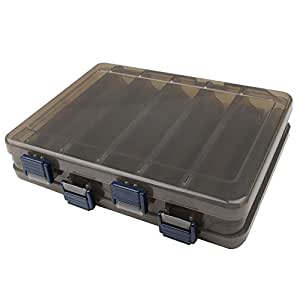 Dr fish fishing lure tackle box large 12 for Large tackle boxes for fishing