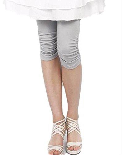 マタニティー レギンス ウエスト部分 ゴムタイプ 7分丈 カジュアル シンプル デザイン 韓国 (グレー,XL)