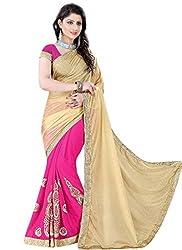 Khushi Trendz Georgette Beige Designer Saree