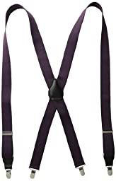 Status Men\'s Suspenders 11/4 Inch Poly Elastic 46 Inch Drop Clip, Purple, One Size