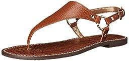 Sam Edelman Women\'s Greta Flat Sandal, Saddle, 6 M US