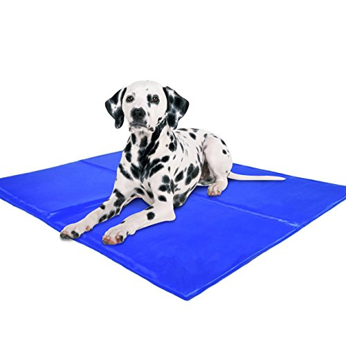IHOVEN Pet Dog Self Cooling Gel Mat,Cat Chilly Ice Cooler Pad Bed Dogs Gelmat Pets Cold Pillow Beds Cats Coolmat 25x19.7Inch (Canine Cooler Therapeutic Pad compare prices)