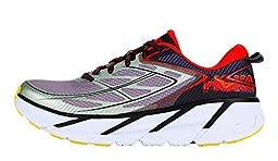 Hoka One One Men\'s Clifton 3 Shoe (11, Grey/Orange Flash)