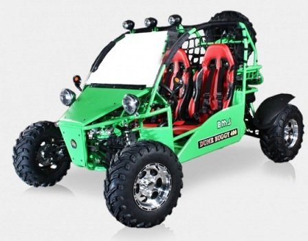 BMS Sand Sniper 400 GREEN 359cc Gas 5 Speed Semi-Automatic Dune Buggy Go Kart
