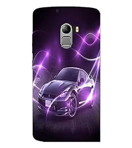 PrintDhaba Car D-2832 Back Case Cover for LENOVO K4 NOTE A7010a48 (Multi-Coloured)
