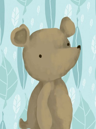 Oopsy daisy barrington the bear powder blue stretched canvas wall art by meghann o'hara, 18 by 24-inch